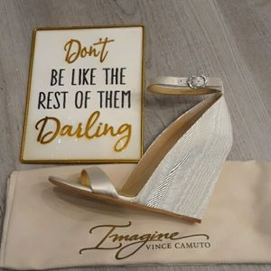 Imagine Ivory Vince Camuto Lessli wedge Wedding